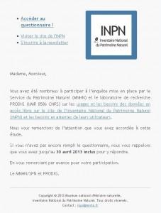 INPN questionnaire